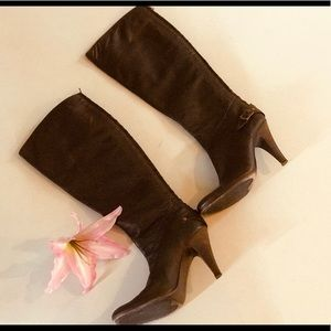 Vero Cuoio leather brown tall boots